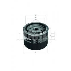 MAHLE Фильтр масляный, OC 384